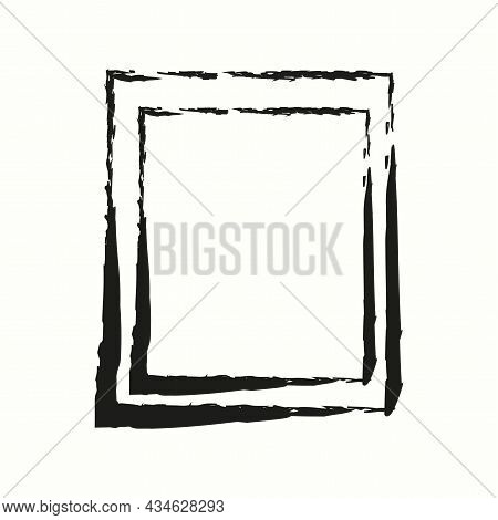 Doodle Photo Frame Icon. Modern Freehand Drawing Art. Interior Design Concept. Vector Illustration.