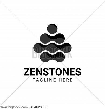 Abstract Balance Vector Logo Design Template. Minimal Logotype Harmony Spa.