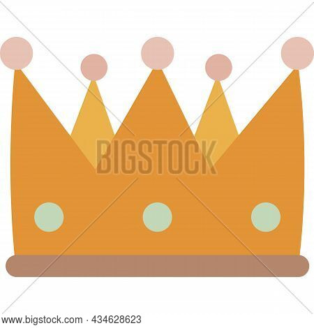 Crown Icon Vector King, Queen, Princess Royal Sign
