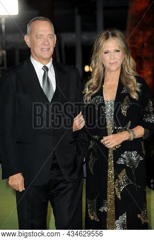 Rita Wilson and Tom Hanks at the Academy Museum of Motion Pictures Opening Gala held in Los Angeles, USA on September 25, 2021.