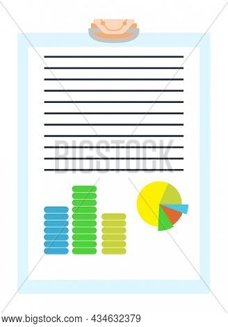 Notary service advertisement. Legal paper document or isolated on blue background. Color  illustration in flat style