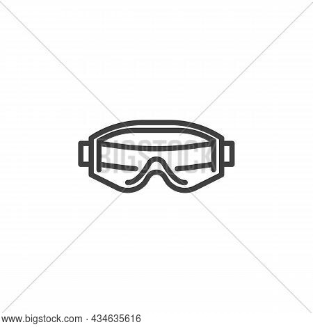 Safety Glasses Line Icon. Linear Style Sign For Mobile Concept And Web Design. Protective Work Glass