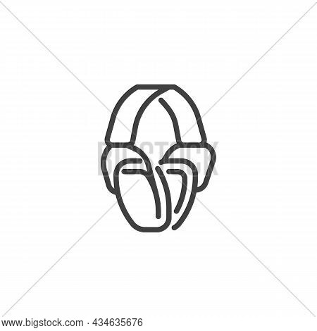 Protective Ear Muffs Line Icon. Linear Style Sign For Mobile Concept And Web Design. Hearing Protect