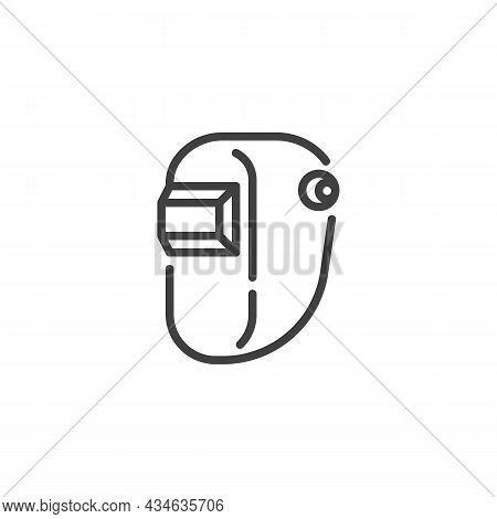 Welding Mask Line Icon. Linear Style Sign For Mobile Concept And Web Design. Safety Welder Mask Outl