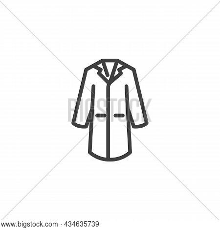 Lab Coat Line Icon. Linear Style Sign For Mobile Concept And Web Design. Laboratory Coat Outline Vec