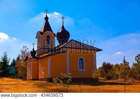 Orthodox Monastery Tipova In Moldova . Famous Place Of Worship From Moldova