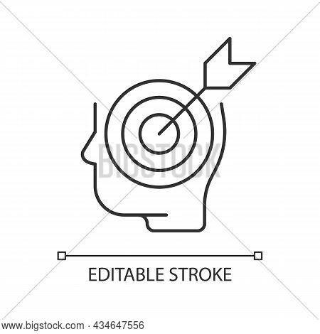 Precise Knowledge Linear Icon. Strictly Correct And Accurate Information. Learning And Education. Th