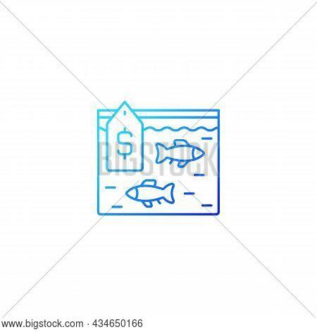 Live Fish Trade Gradient Linear Vector Icon. Fresh Catch Selling. Aquarium And Ornamental Fish. Cons