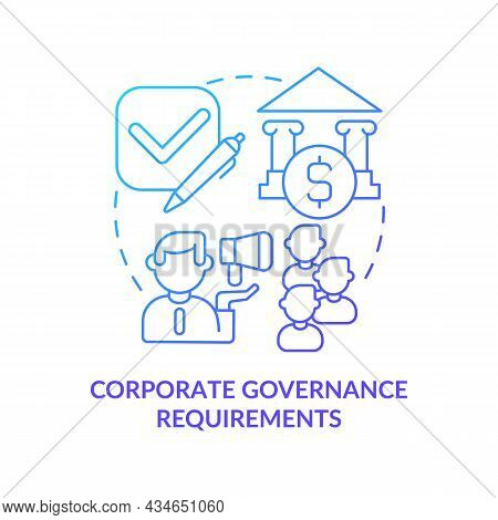 Principles Of Corporate Governance Concept Icon. Corporate Requirements. Company Directing Or Contro