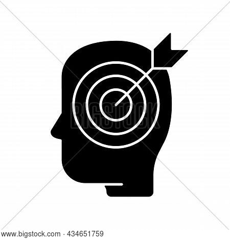Precise Knowledge Black Glyph Icon. Strictly Correct And Accurate Information, Facts. Critical Think