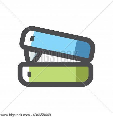 Office Stapler Simple Vector Icon Cartoon Illustration