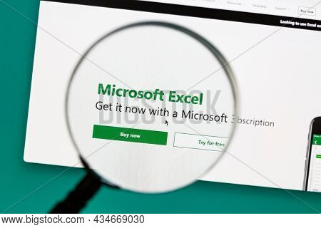Ostersund, Sweden - Sep 30, 2021 Microsoft Excel website. Microsoft Excel is a spreadsheet developed by Microsoft for Windows, macOS, Android and iOS.
