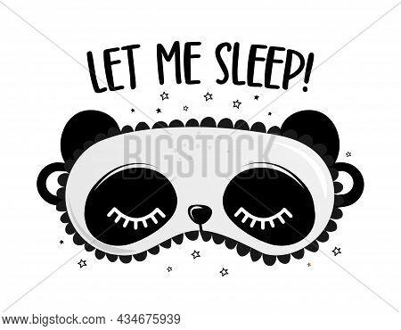 Net Me Sleep! - Funny Hand Drawn Doodle. Sleeping Mask, Stars, Hearts. Cartoon Background, Texture F