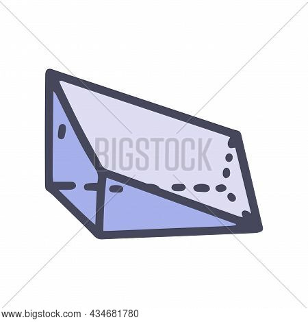 Geometric Wedge Color Vector Doodle Simple Icon