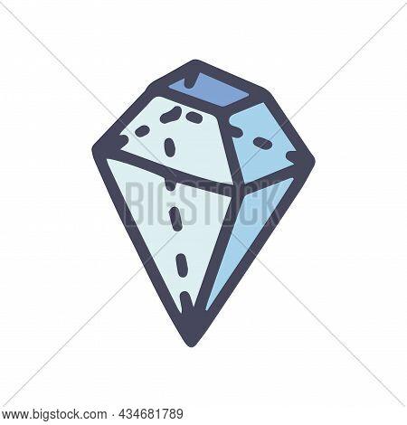 Complex Geometric Shape Color Vector Doodle Simple Icon