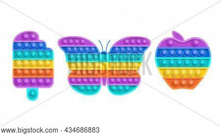 Colorful Sensory Fidget Toys Of Various Shapes