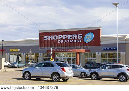 Calgary, Alberta. Canada. Sep 26, 2021. A Close Up Of A Shoppers Drug Mart Store.
