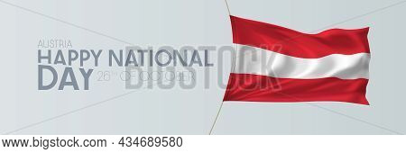 Austria National Day Vector Banner, Greeting Card.