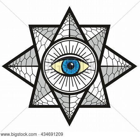 Providence Magic Symbol Of Eye For Print, Tattoo