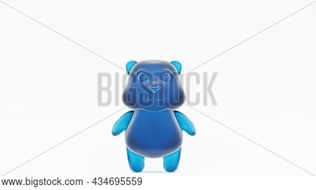 Jelly Bear, On A White Background. Jelly Beans, Sweets For Children. Gummy Bear, 3d Render