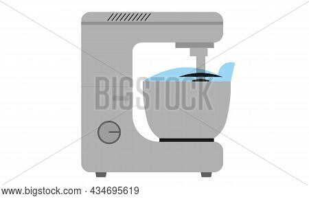 Planetary Mixer Isolated On A White Background.