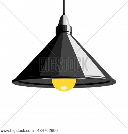Pendant Lamp, Ceiling Lamp Or Hanging Lamp. Interior Design Element. Vector Illustration Isolated On