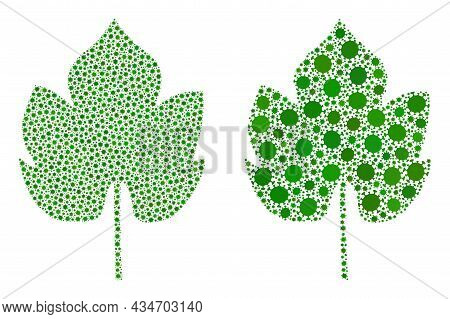 Vector Covid-2019 Mosaic Grapes Leaf Combined For Lockdown Wallpapers. Mosaic Grapes Leaf Is Based O