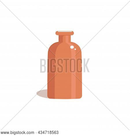 Vintage Jug In A Flat Style. Clay Vase On A White Background. Vector Illustration