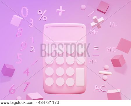 Abstract Calculator And Basic Math Operation Symbols Math, Plus, Minus, Multiplication, Number Divid