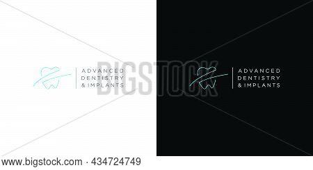Modern And Unique Dental And Dental Implant Logo Design 5