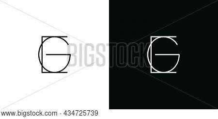 Unique And Modern Eg Initials Logo Design