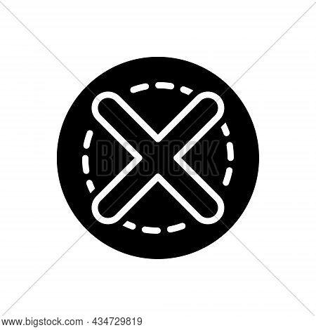 Black Solid Icon For Close Fail Exit Failure Forbidden Refuse Cancel Cross Delete Deny