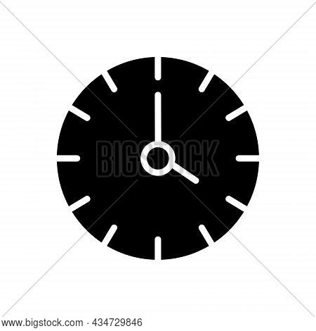 Black Solid Icon For Four Clock Watch Timer Timepiece Stopwatch Horologe Time Analog Countdown