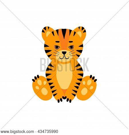 Tiger Sitting Set Dd Ww Isol Animal