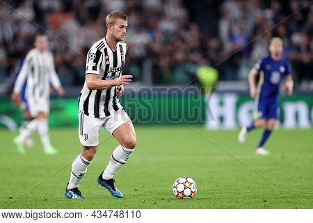 Torino, Italy. 29 September 2021. Matthijs De Ligt Of Juventus Fc  During The  Uefa Champions League