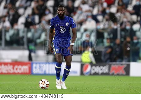 Torino, Italy. 29 September 2021. Antonio Rudiger Of Chelsea Fc  During The  Uefa Champions League G