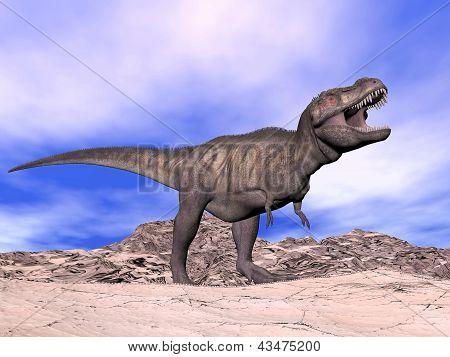 Tyrannosaurus Shouting - 3D Render