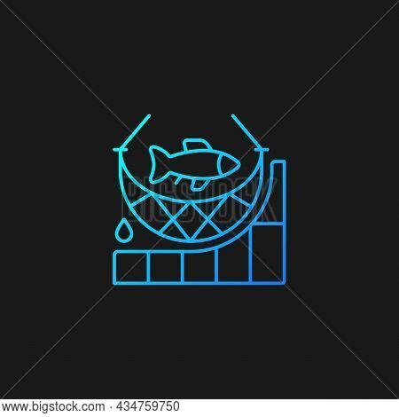 Total Allowable Catch Gradient Vector Icon For Dark Theme. Maximum Fish Quantity. Rules And Regulati