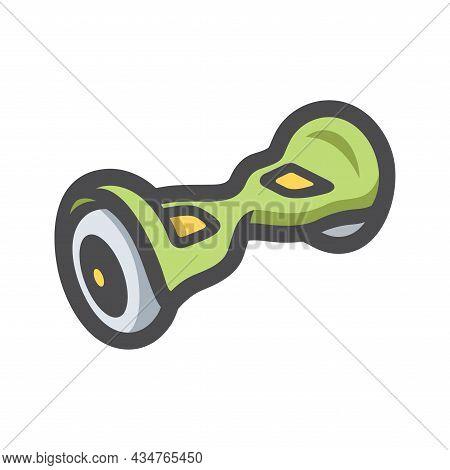 Electric Two Wheels Balance Board Vector Icon Cartoon Illustration