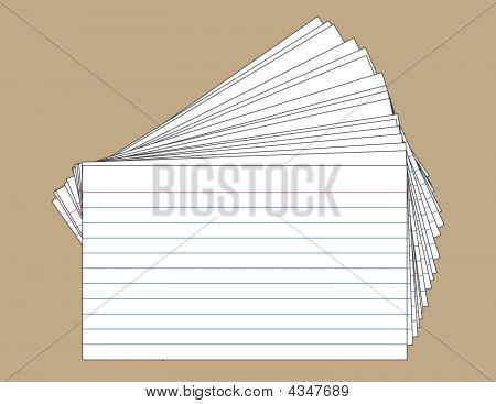 Stack Of Index Cards