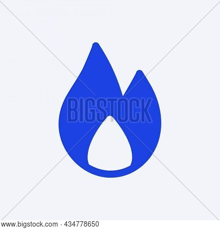 Social media fire icon awesome impression in flat style