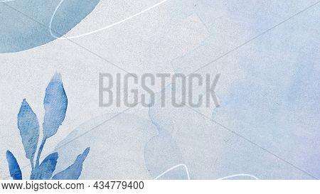 Blue Memphis watercolor textured background