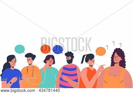 People Communicate, Live Communication. A Group Of Friends Are Talking About Different Topics. Lots