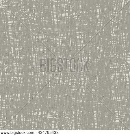 Natural Pastel Brown Linen Texture Vector Background. Seamless Pattern. Finely Woven Effect Organic