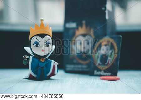 Bangkok, Thailand - September 22, 2021 : Figurine Of The Evil Queen Antagonist Of Disney's Animated