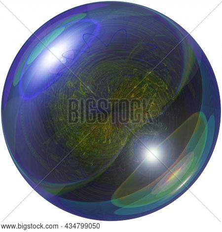 A Magic Ball Or Sphere For Prediction. Isolated. Astrology And Superstition, Mysticism, Spiritualism
