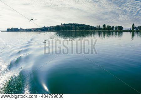 View Of The Polvese Island, Lake Trasimeno, Umbria, Italy