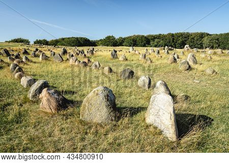 Lindhome Hoje, Burial Side From The Viking And The Iron Age, Aalborg Denmark.