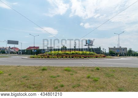 Gdansk, Poland - July 7, 2021: Roundabout Of The Victims Of Firoga And Klukow 1939 - 1945 In Gdansk.