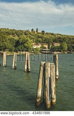 Landing Place For Boats, Isola Maggiore, Lake Trasimeno, Tuoro Sul Trasimeno, Umbria, Italy